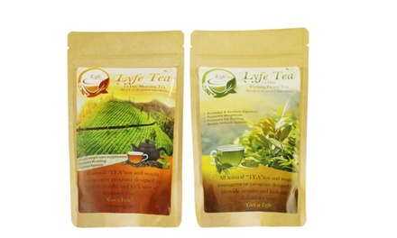 Lyfe Tea Morning and Detox Tea 14-Day Loose-Leaf Teatox