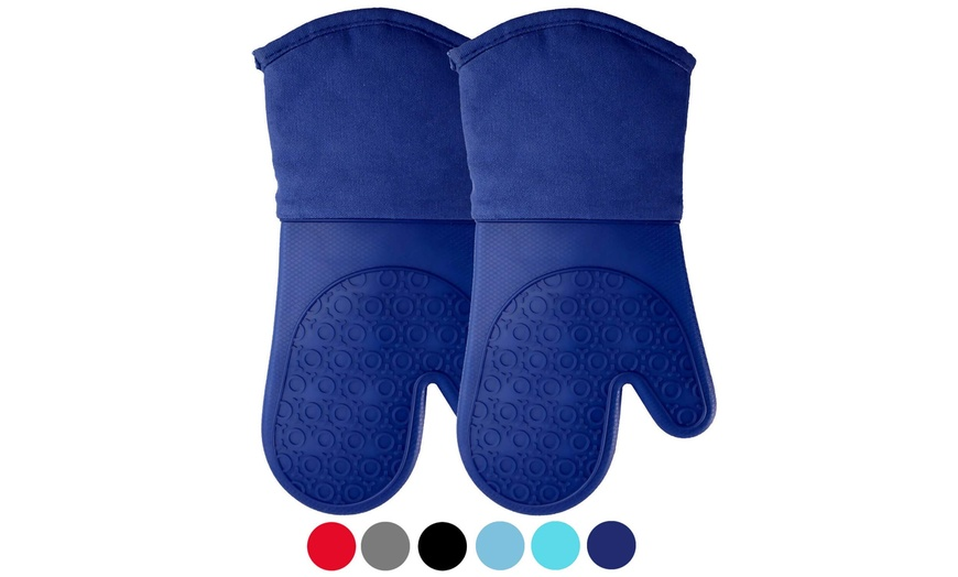 Up To 50 Off On Homwe Silicone Oven Mitts Wit Groupon Goods