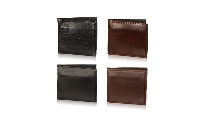 Men's Genuine Leather Bifold ID Credit Card Money Holder Wallet