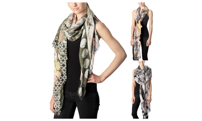 Women's Spring Art Paint Deco Print Shawl Scarf