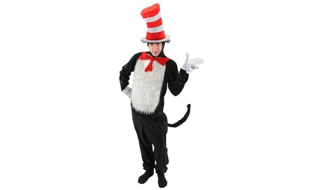Dr. Seuss The Cat in the Hat - The Cat in the Hat Deluxe Adult Costume b9e654be-90d6-4269-a465-f353c87f5729