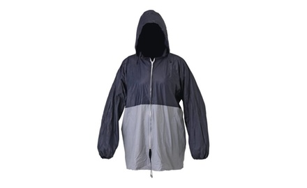 Sporty Unisex Rain Coat with Hood And Carry Pouch