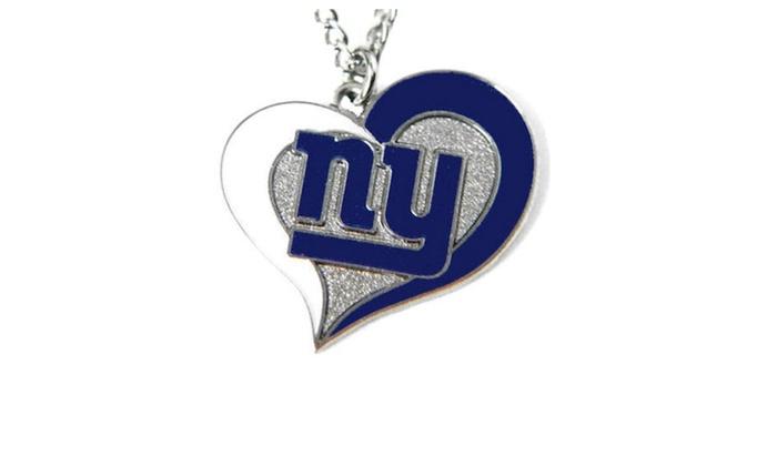 NFL Swirl Heart Necklace