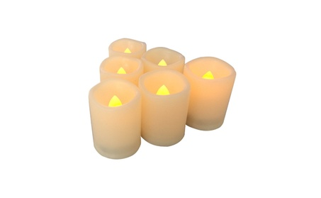 Candle Choice 6 PCS Premium Flameless Candles with Timer, LED Votive, b683445e-71d5-47b5-ae10-a6c2c22cd384