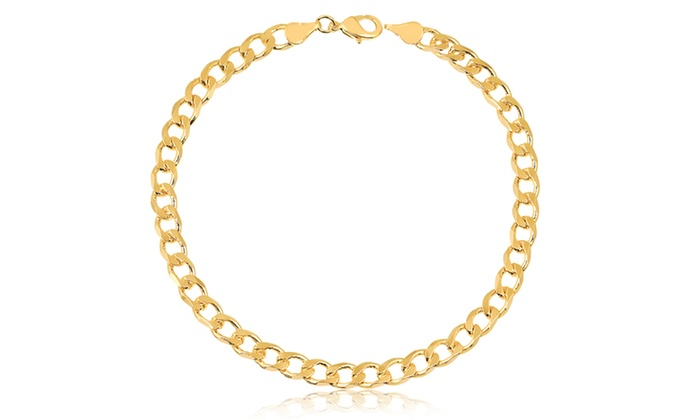 fd6940d995988 Women's 18K Gold Plated Cuban-Link Anklet