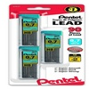 Super Hi-Polymer Lead Refills, 0.7mm, HB, Black. 3 tubes