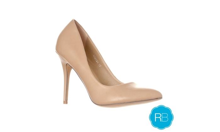 Riverberry Women's 'Gaby' Fashion Stiletto Heels, Taupe PU