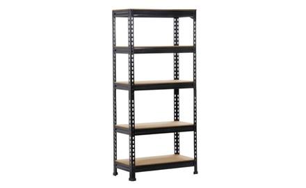 Topeakmart 5-Tier Storage Shelves, Black