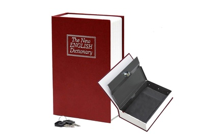 S/M Hidden Secret Dictionary Jewelry Storage Security Box Book Safe with Key Lock Was: $39 Now: $10.99.