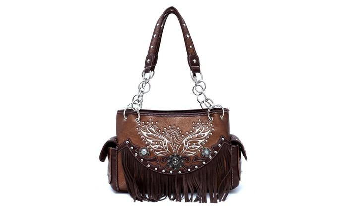 Cowgirl West Western Eagle Stitch Shoulder Bag EAG 8469