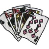 """7.25""""X5.25"""" Flush Poker Cards beaded patch for Sewing Notions Crafts"""