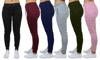 Women's Classic French Terry Jogger Lounge Pants (Sizes, S-3XL)