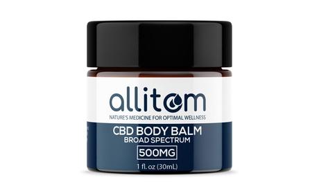 allitom Broad Spectrum THC-Free CBD Body Balm - 500mg