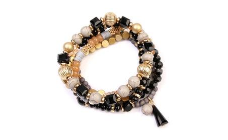 Multi Beaded Stretch Bracelet Set 1f50a579-e6aa-468e-a3b8-51ae5fadd921