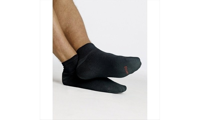 Hanes Boys Red Label Cushion Ankle Socks 6-Pack