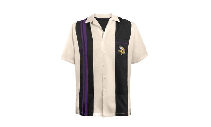 online store 93156 3a606 Little Earth 300632-VIKG-M Bowling Shirt Spare Minnesota Vikings - Medium