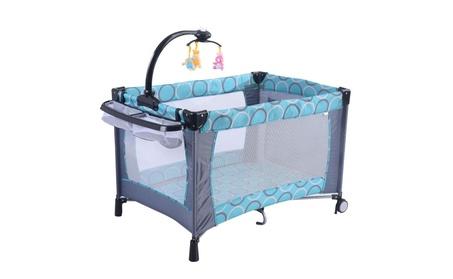 Baby Foldable Crib Bassinet Pack 'n Play Playard (Green) a05f95b4-b73d-4cb3-b913-1e5adb47148a
