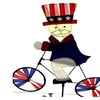 "Height Stake 24"" W Garden Americana Bike Wind Spinner"
