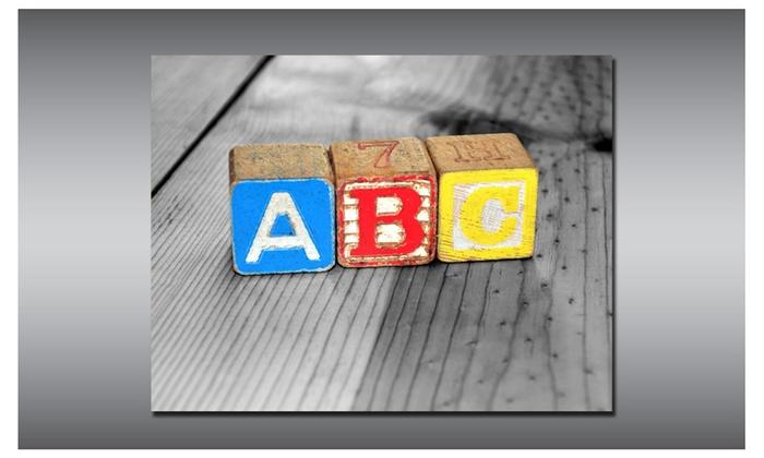 ABC Block Letters Print Nursery Decor Groupon
