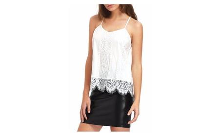 Women White Lace Top With Strap Style Blouse - JPWSB892-JPWSB893 0e1551fa-06c5-493c-9b1e-ff5575177049