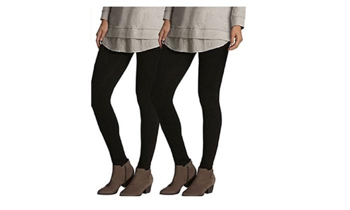 4df60fa94cc780 Felina Ladies' Lightweight Legging 2-Pack Black | Groupon