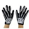 Skeleton Bones Gloves Skull Printed Breathable Gloves for Halloween Party