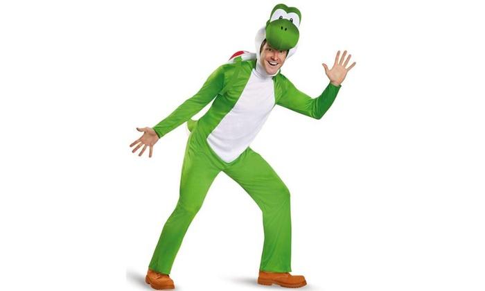 Super Mario Yoshi Deluxe Adult Costume Plus