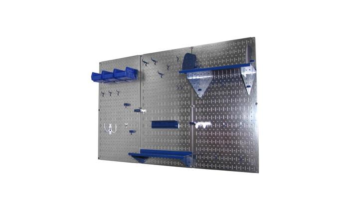 Wall Control 4ft Metal Pegboard Standard Tool Storage Kit
