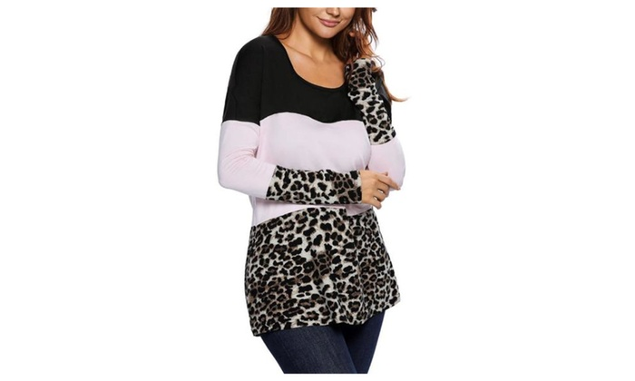 Women's Long Sleeve Casual Graphic Pullover Tee Shirt