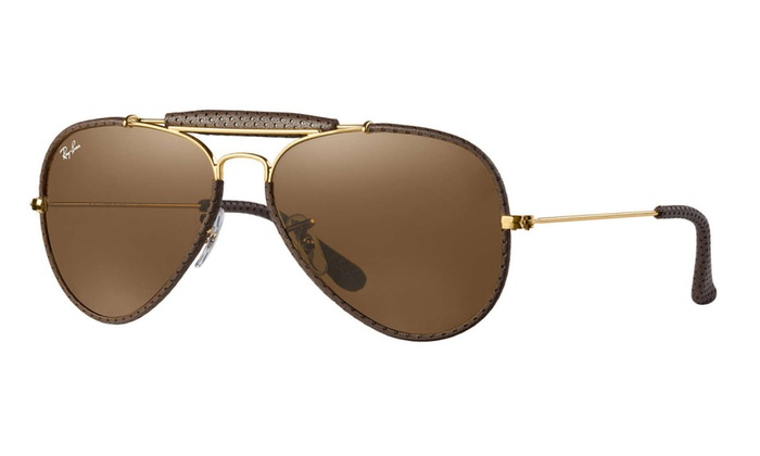 49df2e437a Ray-Ban Outdoorsman Craft Sunglasses (Brown  Gold Brown Classic B-15 ...