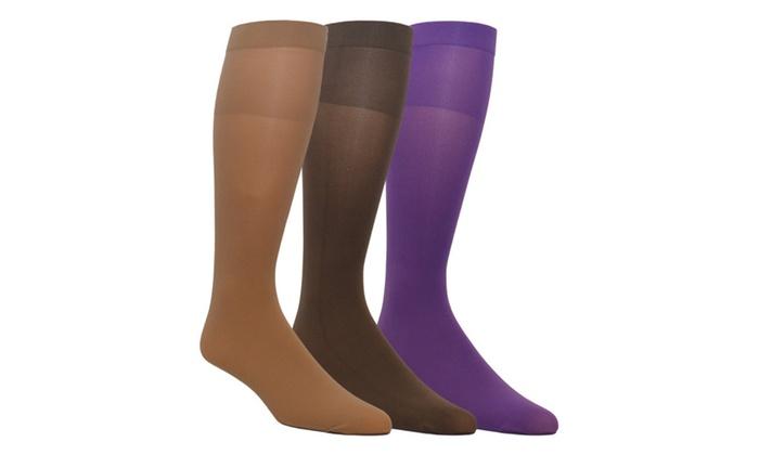 ce415f18b68 Zaftig Womens Plus Size Opaque Nylon Trouser Socks