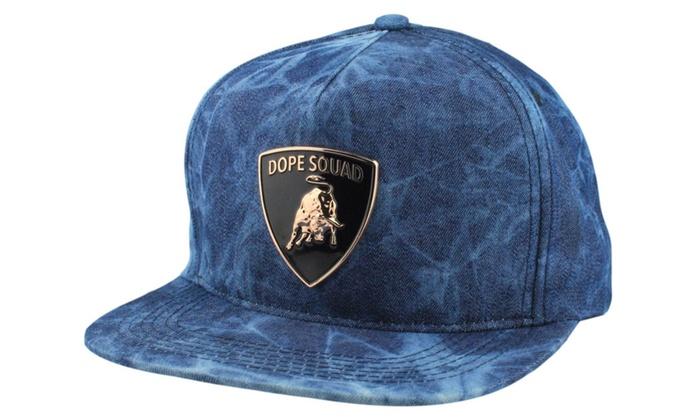 Metal Plate Snapback Cap Hat Headwear Streetwear Denim Lamborghini ... 764de290f46