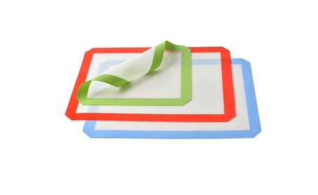 New 3 Silicone Baking Mats Non Stick Heat Resistant Liner Sheet d942547e-0a48-44b9-a579-f34b9c4287b7