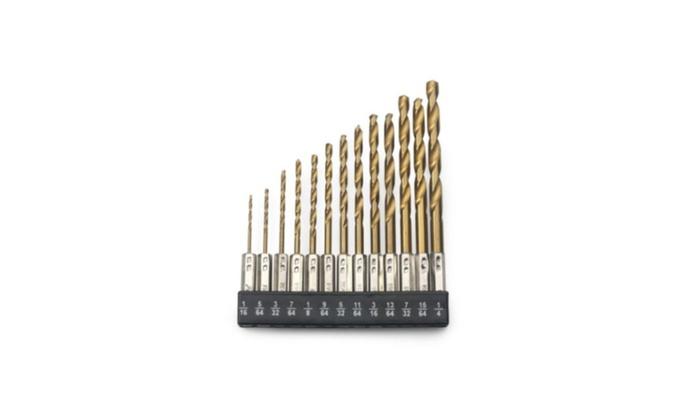 115pc HSS High Speed Steel Titanium Drill Bit Set Metal