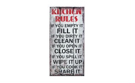 Accent Plus Home Art Decor Kitchen Rules Wall Art ac1e5c19-ad24-46de-9d04-1ee92b05e7d7