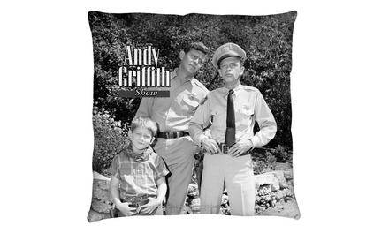 Trevco CBS1502-PLO3-16x16 Andy Griffith-Lawmen - Throw Pillow, White - 16