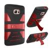 Insten Hard Hybrid Case W/stand For Samsung Galaxy S7 Black/red