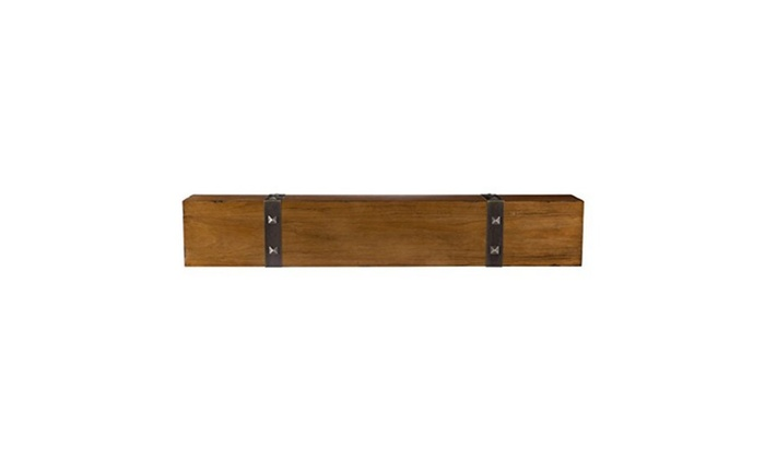 Rustic Timber Beam Fireplace Mantel 72 in