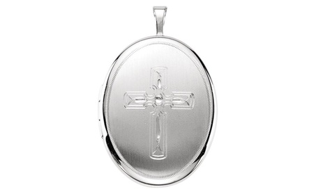 Sterling Silver Oval Celtic Cross Locket 7d45c776-ccfa-411c-84ec-512d1765ba02