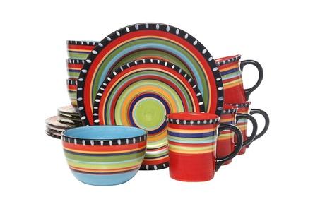 Gibson Elite Pueblo Springs 16-Piece Dinnerware set, Multicolor photo