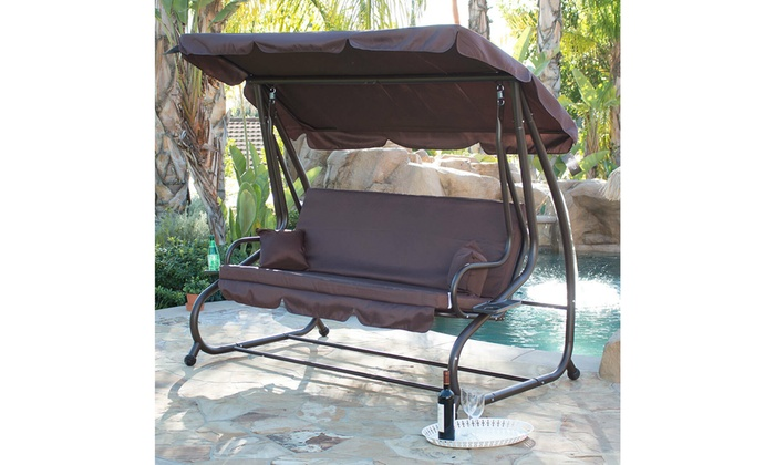 Up To 59 Off On Outdoor Swing Bed Patio Adj Groupon Goods