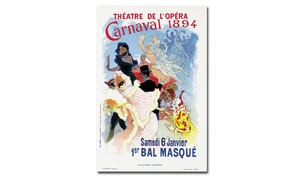 Groupon Goods: Jules Cheret 'Theatre de l'Opera 1894' Canvas Art