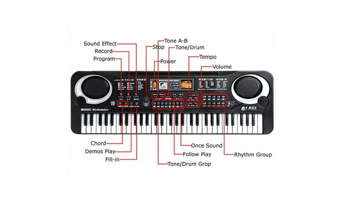 Up To 56% Off on 61 Keys Digital Music Electro    | Groupon