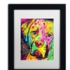 Dean Russo 'Mastiff II' Matted Black Framed Art