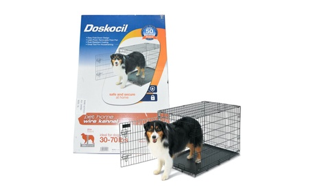 "Doskocil Collapsible Dog Wire Metal Kennel/Crate 35.6 x 22.5 x 25.3"" 6e8eecc7-cfc3-4983-87a4-797a26ff0bec"