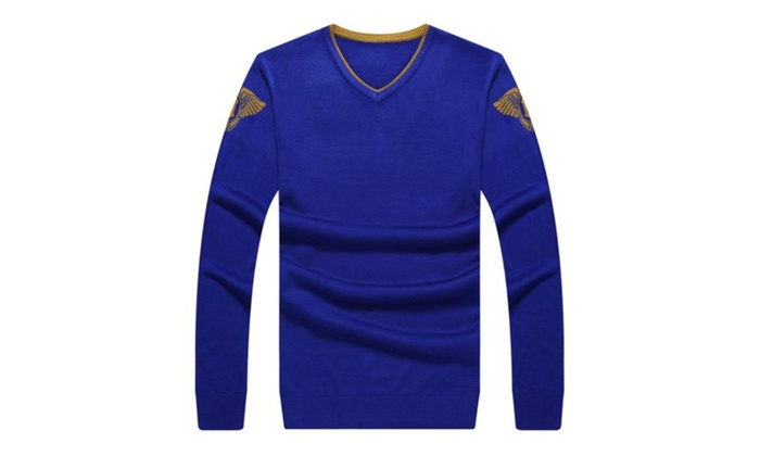 Men's Casual Pullover Fashion Slim Fit Solid Pullovers