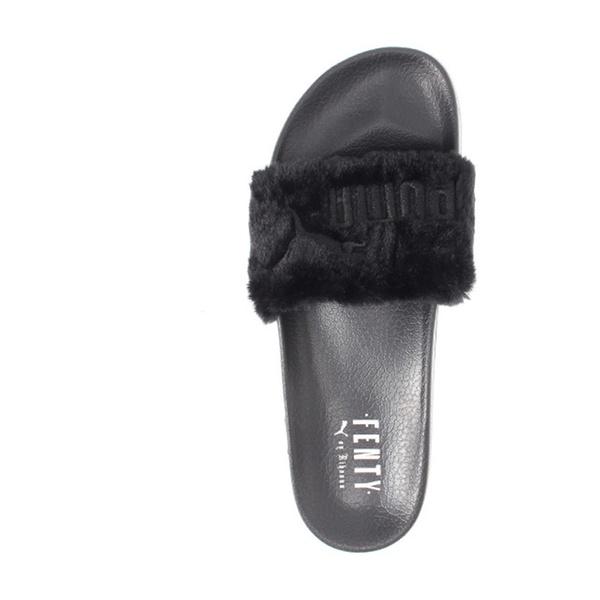 7b03c3ae71bf Rihanna Puma Fenty Faux Fur slippers