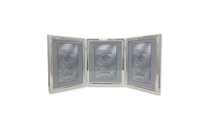 LawrenceFrames 510780T 8 x 10 in. Triple Bead Picture Frame, Silver ...