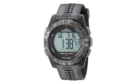 Timex Men's T49851 Expedition Vibration Alarm Black Resin Strap Watch 038559e2-9fdb-4f4b-a3c6-ca746a8126eb