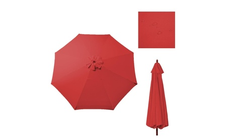 9 Ft Umbrella Cover Canopy Replacement Top for 8 Ribs - Red - Red 5ddd110a-d774-40f2-9ed4-e6ecec50d393